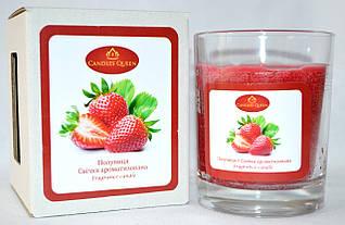 Свеча ароматизированная в стекле клубника