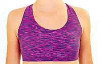 Топ для фитнеса и йоги CO-1603-3 (лайкра, L-XL-42-48, фиолетовый)
