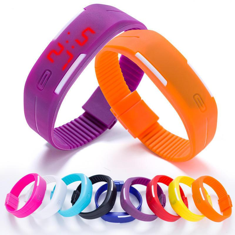 Оригинальные силиконовые LED часы-браслет