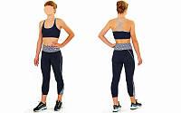 Топ для фитнеса и йоги CO-163-2 (лайкра, M-L-40-48, черный-серый)
