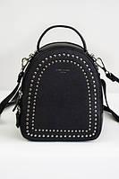 Черный женский рюкзак с заклепками