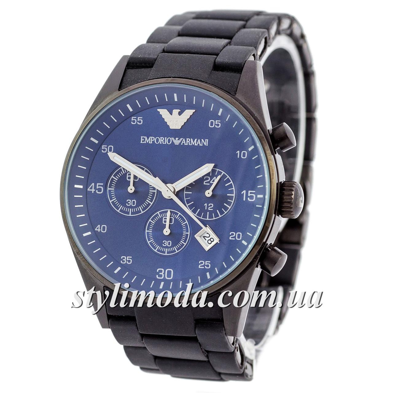 Часы Наручные Emporio Armani AAA Black-Blue Silicone (реплика) — в ... 6bce931222d