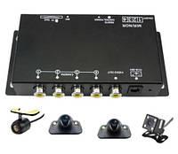 Четырехканальный автомобильный видеорегистратор с 360 градусов обзора