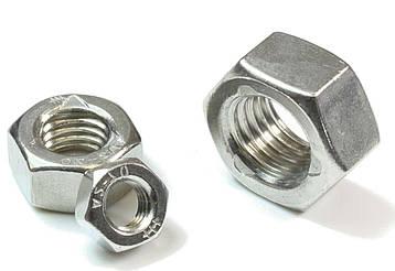 Гайка нержавеющая М1,2 DIN 934 (ГОСТ 5915-70, ГОСТ 5927-70) сталь А2 и А4, фото 2