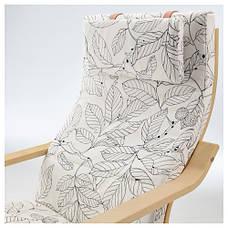 ПОЭНГ Кресло, березовый шпон, висланда черный/белый 49181221 IKEA, ИКЕА, POANG, фото 2