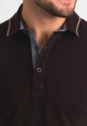 Темно-коричневая поло POLO 1801-3 разм. 48, фото 2