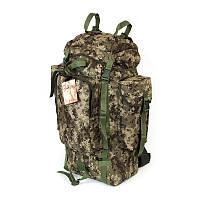 Туристический армейский крепкий рюкзак на 75 литров пиксель. Армия, спорт, туризм, охота, спорт.
