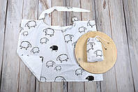 Накидка для кормления + сумочка-чехол, Овечки