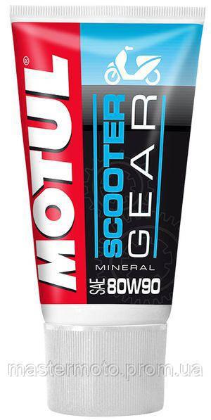Масло минеральное трансмиссионное для скутеров и мопедов MOTUL SCOOTER GEAR SAE 80W90 (150ML) 105859