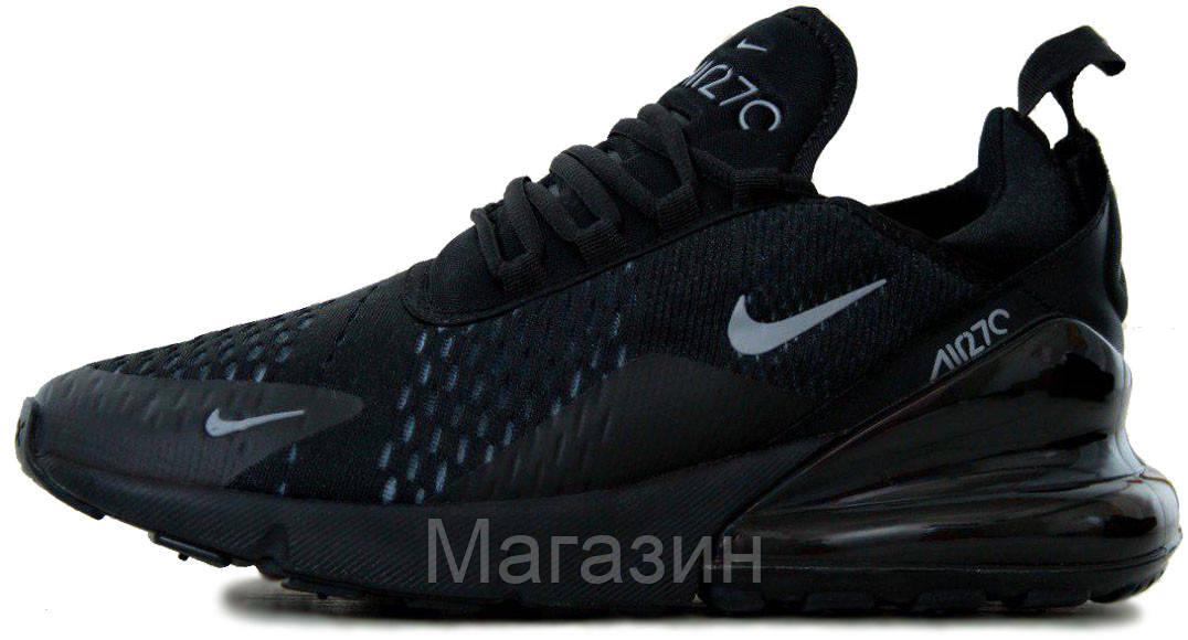 5c08cc01f Мужские спортивные кроссовки Nike Air Max 270 Black Найк Аир Макс 270 черные  - Магазин обуви