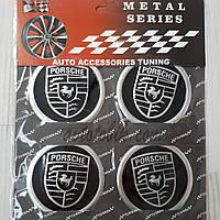 Наклейка эмблема на колпаки Porsche 60 мм (4 шт.), фото 1