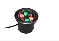 Светильник  тротуарный 6Вт 6LED RGB LM11