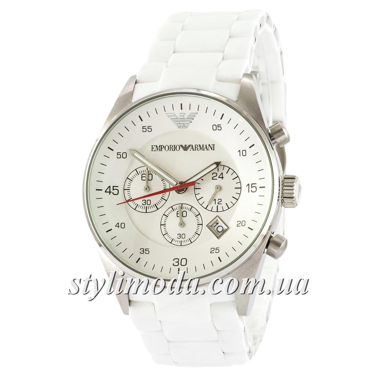 Часы Наручные Emporio Armani AAA White-Silver Silicone (реплика) — в ... 0982aa6f36b