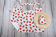 Накидка для кормления + сумочка-чехол, Арбузики