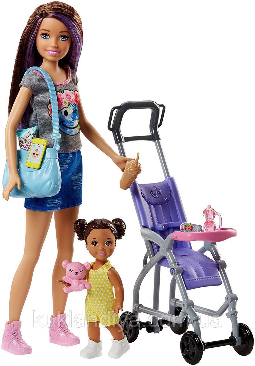 Набор Барби Скиппер и ее маленькая сестричка с коляской