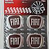 Наклейка эмблема на колпаки бордо Fiat 60 мм (4 шт.)