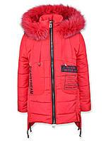Зимнее пальто Притти (Красное) (L 152)