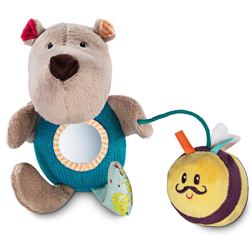 Lilliputiens - Ручная игрушка-погремушка медведь Цезарь