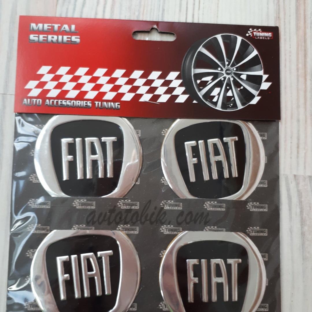 Наклейка эмблема на колпаки Fiat 60 мм (4 шт.)