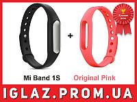 Фитнес-браслет Xiaomi Mi Band Pulse 1S + Розовый ремешок