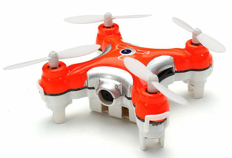 Квадрокоптер нано р/у Cheerson CX-10C с камерой (оранжевый), фото 2