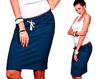 Джинсовая спортивная юбка (код 140)