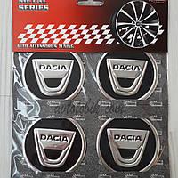 Наклейка эмблема на колпаки Dacia 60 мм (4 шт.), фото 1