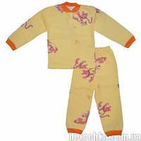 Пижама под манжет начес (Девочка) (52 (92) Светло-желтая с тиграми)