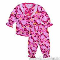 Пижама для девочки Мальвина футер цветной (64 (122-128) Розовая сердечка)