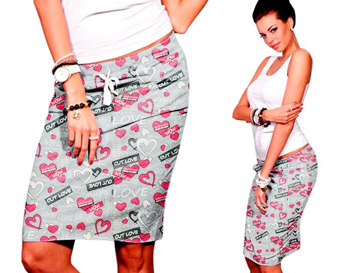 Спортивная принтованная юбка Djessi (Код MF-141)