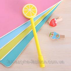 Ручка гелевая Лимон