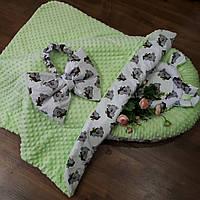 Салатовый кокон + конверт-плед + ортопедическая подушка, фото 1