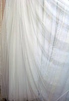 Тюль фатин однотонный белый Турция, высота 3,1 м, фото 1