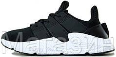 Мужские кроссовки Adidas Prophere Black/White Адидас черные