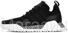 Мужские кроссовки Adidas AF 1.4 Primeknit Black (Адидас) черные