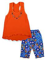 Комплект Тоня реактив (56 (92) Оранжевый+синий)