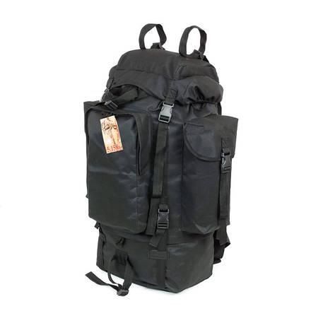 Туристический армейский крепкий рюкзак на 75 литров чёрный. Армия, спорт, туризм, рыбалка, охота
