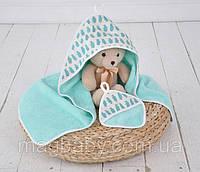 Полотенце с капюшоном для новорожденного Пингвины, фото 1
