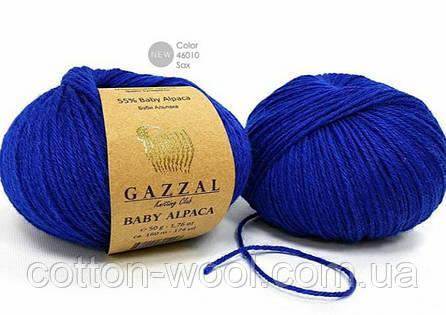 Gazzal Baby Alpaca 46010  55 % Бэби Альпака, 45 % Мериносовая шерсть файн супервош