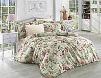Комплект постельного белья из сатина + жатый шёлк (евро размер)