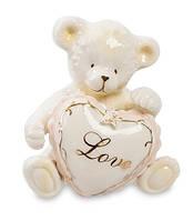 """Фарфоровый набор соль-перец """"Медвежонок с сердечком"""" (Pavone) CMS - 14/ 8. Подарки на 14 февраля"""