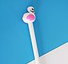 Ручка гелевая белый Фламинго, фото 2
