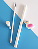 Ручка гелевая белый Фламинго, фото 3