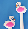 Ручка гелевая белый Фламинго, фото 4