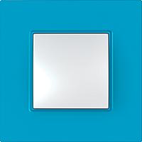 Рамка Schneider-Electric Unica Quadro 1-пост Aqua MGU4.702.26
