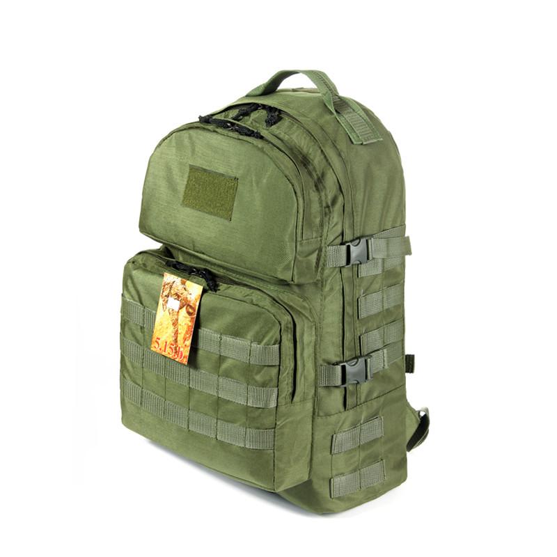 Тактический походный крепкий рюкзак 40 литров олива. Армия, рыбалка, охота, туризм, спорт