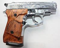 Сигнально - стартовый пистолет Stalker 914S (хром с гравировкой) 9мм.Киев., фото 1