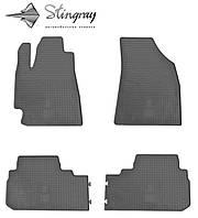 Ковры автомобильные Тойота Хайлендер 2008- Комплект из 4-х ковриков Черный в салон