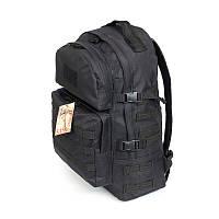 Тактический походный крепкий рюкзак 40 литров чёрный. Туризм, армия, рыбалка, спорт, охота
