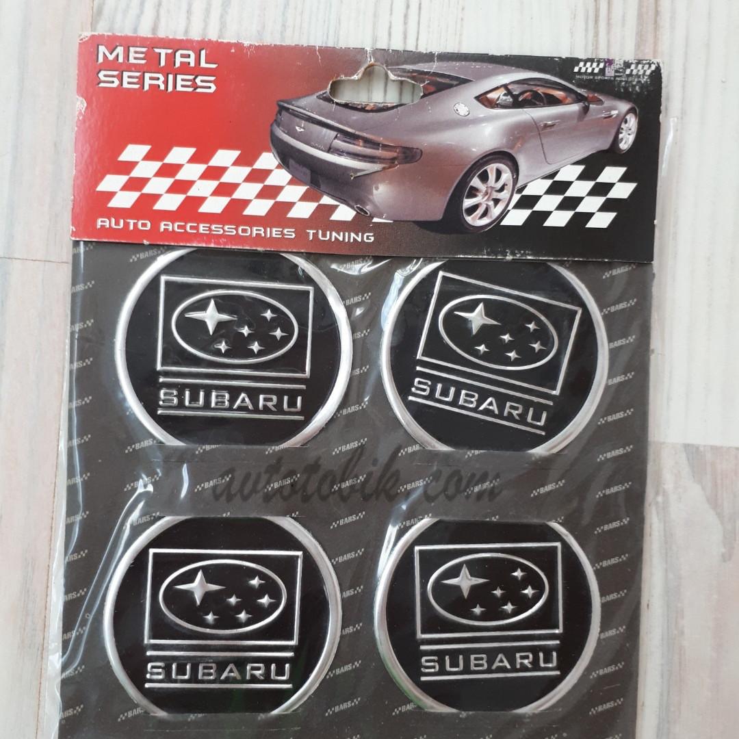 Наклейка эмблема на колпаки Subaru 60 мм (4 шт.)